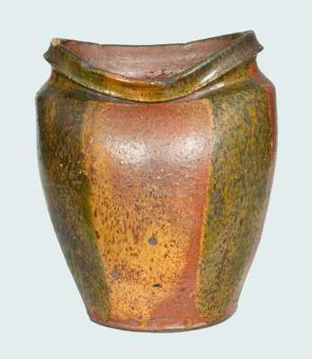 Very Rare Redware Jar with Copper-Oxide Decoration att. Christopher Alexander Haun, Greene Co., TN