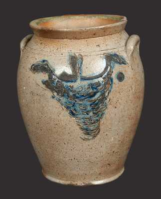 1/2 Gal. Early Ovoid Stoneware Jar with Incised Honey Combs