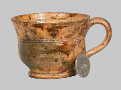 Glazed Redware Cup, attrib. Anthony Baecher, Winchester, VA or Thurmont, MD.