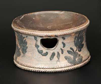 Unusual Stoneware Spittoon with Coggled Edges, possibly Huntingdon County, PA