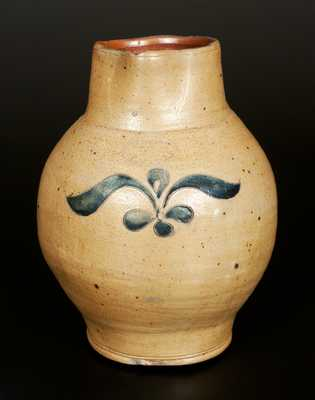 Very Rare C. CROLIUS Stoneware Pitcher with Incised Decoration