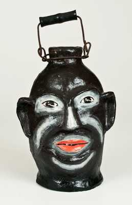Very Rare Cold Painted Face Jug