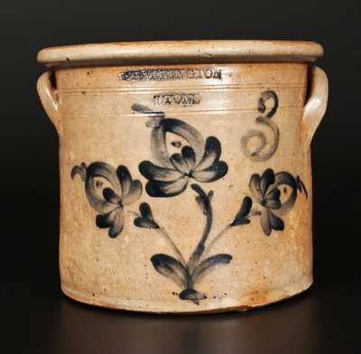T. HARRINGTON / LYONS Stoneware Crock with Floral Decoration