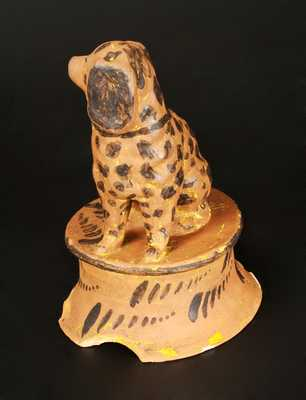 Extremely Rare and Important Greensboro, PA Tanware Spaniel Signed