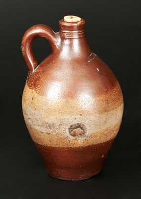 Fine Diminutive BOSTON Stoneware Jug with Iron-Dipped Decoration