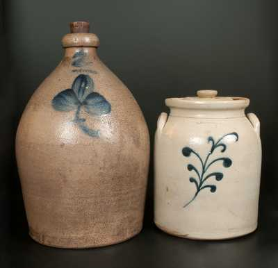 Lot of Two: LYONS Stoneware Jug and EDMANDS & CO Stoneware Jar