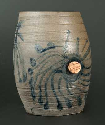 Rare Small-Sized Decorated Stoneware Keg