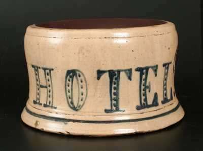 Exceptional Northeastern Stoneware ELM PARK HOTEL Spittoon