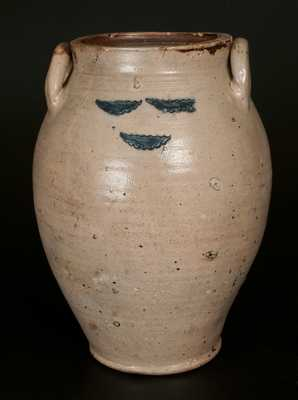 3 Gal. Stoneware Jar w/ Impressed Decoration att. Frederick Carpenter, Boston, MA