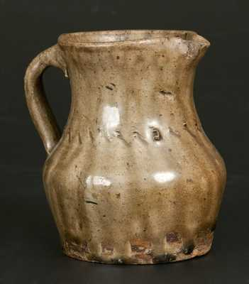 Unusual Small Alkaline-Glazed Stoneware Pitcher, possibly Edgefield, SC