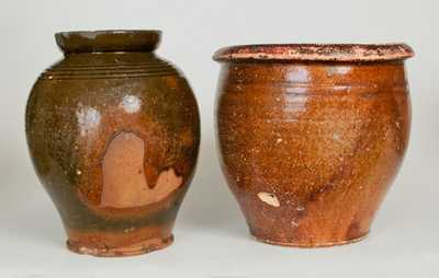 Lot Of Three Redware Jars With Tennessee Provenance