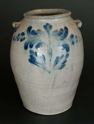 Rare 2 Gal. H. SMITH & CO. (Alexandria, VA) Stoneware Jar w/ Floral Decoration