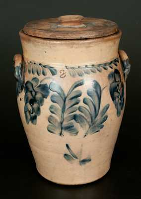 2 Gal. Stoneware Crock with Floral Decoration att. Richard Remmey, Philadelphia, PA