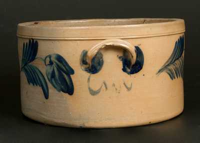 Stoneware Cake Crock w. Floral Decoration att. R. J. Grier, Chester County, PA