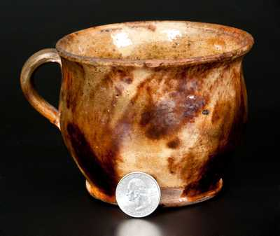 Glazed Redware Cup, Pennsylvania origin, 19th century