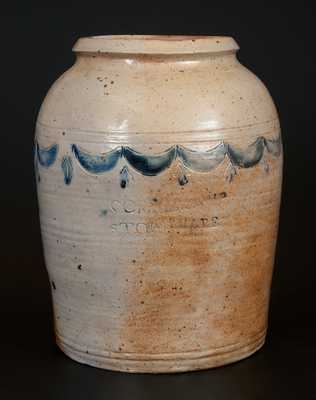 Rare COMMERAWS STONEWARE Jar (Corlears Hook, Manhattan, NY)