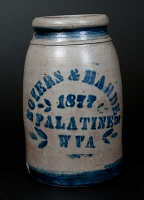 Stoneware Canning Jar, Stenciled