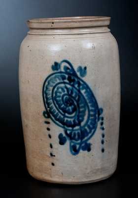 New Jersey Stoneware Jar with Slip-Trailed Snail Decoration