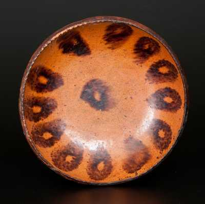 Redware Plate with Manganese Decoration