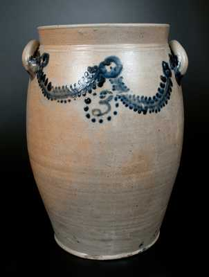 Rare Three-Gallon Baltimore Stoneware Jar att. William Morgan, c1822