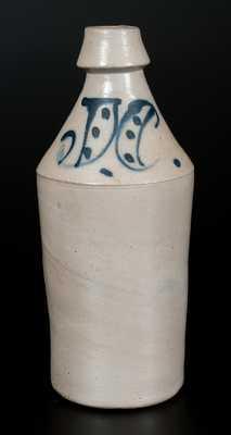 Cobalt-Decorated Stoneware Bottle, Inscribed
