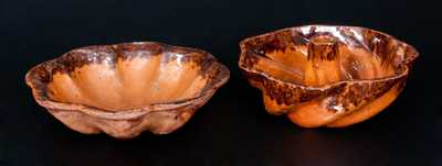 Two Pieces of Glazed Redware, attributed to the John Bell Pottery, Waynesboro, PA, circa 1850-1890.