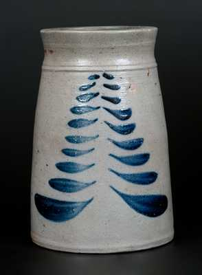 Stoneware Canning Jar with Freehand Cobalt Decoration, attrib. Boughner Family, Greensboro, PA