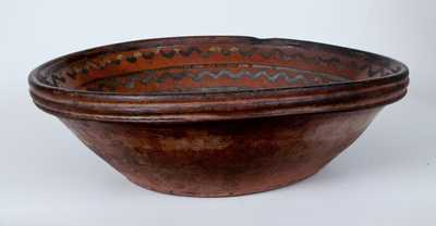 Large-Sized Hagerstown, MD Redware Bowl, late 18th or early 19th century.