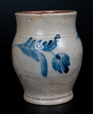 Half-Gallon Stoneware Jar w/ Cobalt Floral Decoration, attrib. Richard C. Remmey, Philadelphia, PA