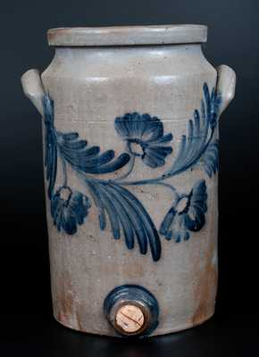 2 Gal. Stoneware Water Cooler with Floral Decoration, Baltimore circa 1850