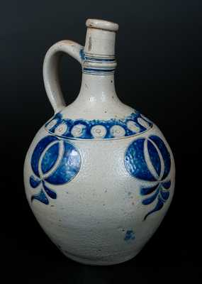 Westerwald Stoneware Jug with Elaborate Incised Decoration