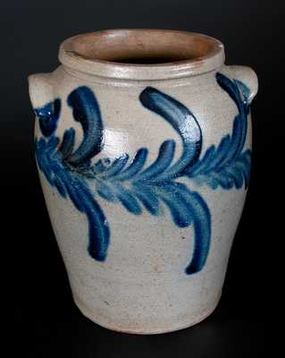 1 Gal. Ovoid Baltimore Stoneware Jar with Swag Decoration, circa 1825