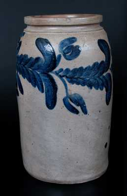 2 Gal. Stoneware Jar with Horizontal Tulip Decoration, Baltimore, circa 1835