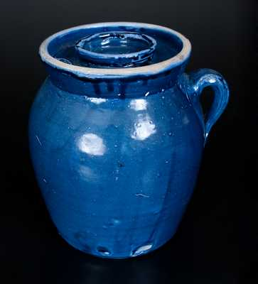 Hendon Miller (1930-1983), Brent, Bibb County, Alabama, Blue-Glazed Churn