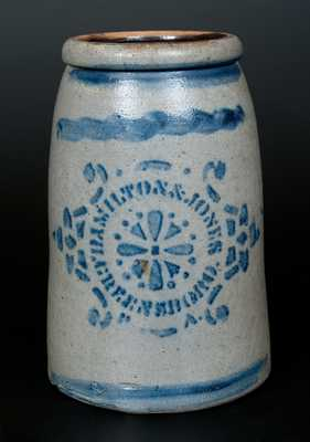 HAMILTON & JONES / GREENSBORO, PA Stoneware Wax Sealer with Stenciled Pinwheel Design