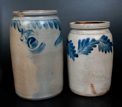 Lot of Two: Remmey Philadelphia Stoneware Jar, Southeast PA Stoneware Jar
