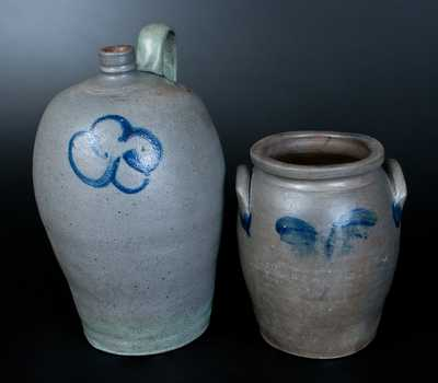 Lot of Two: James River Virginia Stoneware Jug and Jar