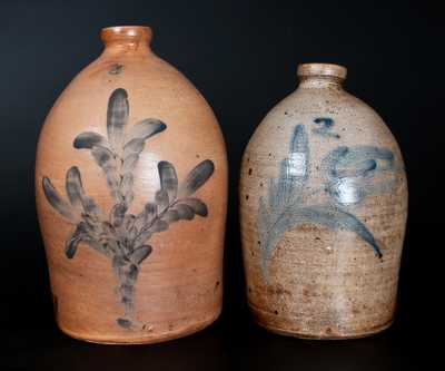 Lot of Two: Pfaltzgraff Stoneware Jugs incl. Signed 2 Gal. Example