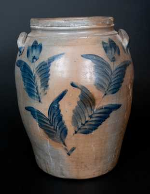 3 Gal. Stoneware Jar w/ Tulip Decoration att. R. J. Grier, Chester County, PA