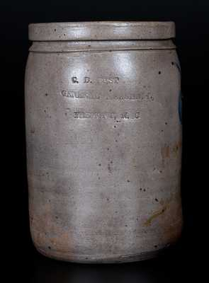 Very Rare FREMONT, NC Stoneware Advertising Jar, Baltimore, circa 1880