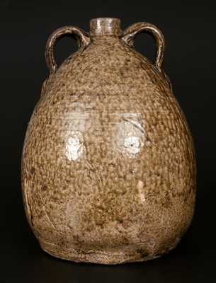 Rare Double-Handled Franklin L. Becham, Crawford County, GA Stoneware Jug