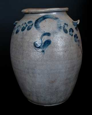 2-Gal. Att. H. Smith & Co., Alexandria, VA Stoneware Crock with Floral Decoration