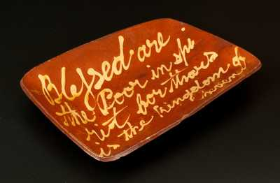 Very Important Norwalk, CT, Redware Loaf Dish,