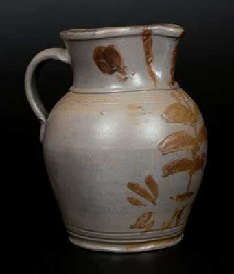 Rare G.N. Fulton Virginia Stoneware Pitcher with Manganese Decoration