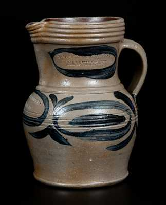 Extremely Rare N. COOPER & POWER / MAYSVILLE, KY Diminutive Stoneware Pitcher