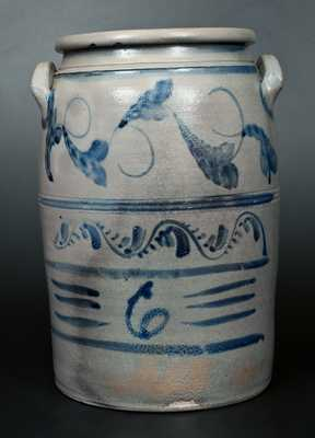 Extremely Rare Stoneware Crock Stamped N. COOPER & POWER / MAYSVILLE and HAMILTON / GREENSBORO, PA