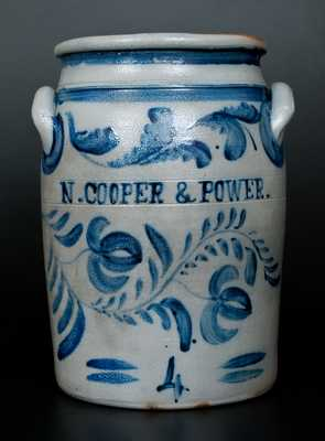Exceptional COOPER & POWER (Maysville, KY) Stoneware Advertising Crock by Hamilton, Greensboro, PA