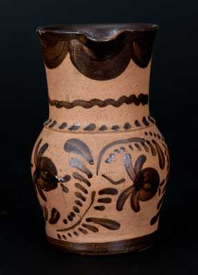 Tanware Pitcher, Western PA origin, fourth quarter 19th century