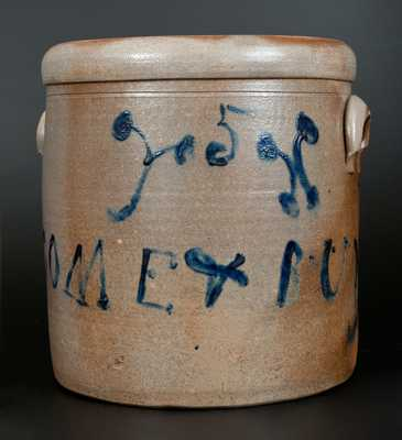 Wills Creek, Ohio Stoneware Crock with Brushed Inscription,