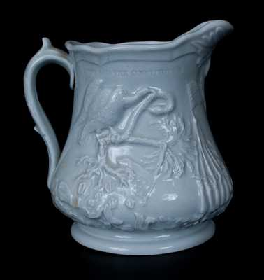 Colonel Ellsworth Commemorative Ironstone Pitcher, Stamped